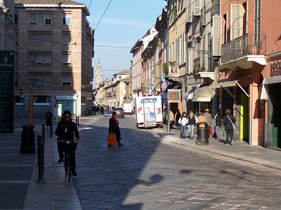The Strada (street) M. D'Azeglio near Davy's apartment