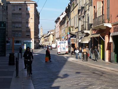 The Strada (street) M. D'Azeglio near Davy's apartment