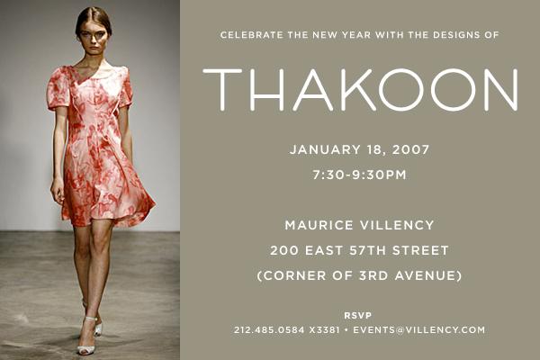 Thakoon Event