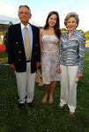 Peter G. Peterson, grandaughter Alexandra Peterson and Joan Ganz Cooney
