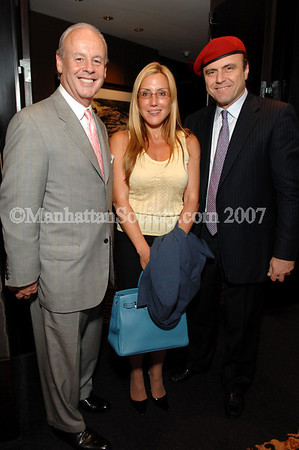 NEW YORK-JULY 24: Paul Carlucci (Publisher of the New York Post), Superbroker Dolly Lenz & Curtis Sliwa  attend Cocktail Party to Celebrate Success of 2007 Guardian Angels Annual Gala Dinner and Honor Board Members, Gala Honorees and Friends hosted by Curtis & Mary Sliwa on July 24, 2007 at The Mandarin Oriental Hotel, 80 Columbus Circle at 60th Street, New York, New York 10023 (Photo Credit: ManhattanSociety.com by Christopher London)