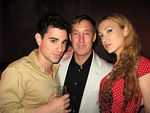 Producer, Paul Reitano of Park Slope Productions, Andrew Stocker and Devorah Rose at ARENA on Tuesday, July 30 for launch party for Fashionista Diaries