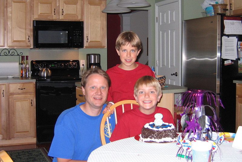 Scott and the boys - Anthony's 8th birthday