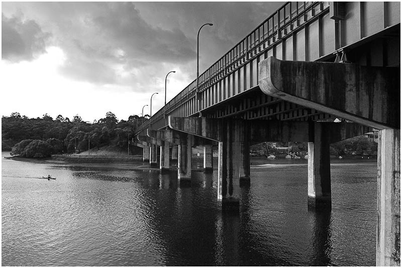 "Tuesday 24th July 2007.  I will be posting images from the archives for a few weeks.  Fig Tree Bridge, Lane Cove (originally taken July 10th 2005).  View location on <a href=""http://maps.google.com/maps/ms?ie=UTF8&hl=en&msa=0&ll=-33.859012,151.203032&spn=0.049108,0.080338&t=h&z=14&om=1&msid=107047001763101043024.0000011385090e2979cca"" target=""_blank""><strong><em>Google Maps</em></strong></a>.  EXIF DATA  Canon 1D Mk II. EF 17-35 f/2.8L@17mm 1/125s f/10 ISO 200."