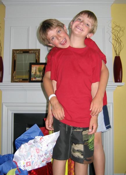 Anthony and Jacob - Anthony's 8th birthday