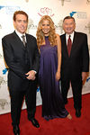 Brad Edson, Petra Nemcova and Larry Jones at the Cooper-Hewitt National Design Museum on the Upper East Side of Manhattan for NutraCea and The Happy Hearts Fund Celebrate NutraCea's relationship with Happy Hearts Fund in Indonesia