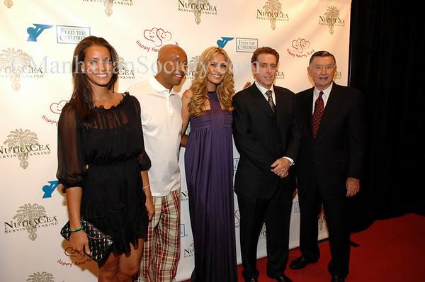 Russell Simmons with guest Porschla, Petra Nemcova and Brad Edson of NutraCea and and Larry Jones