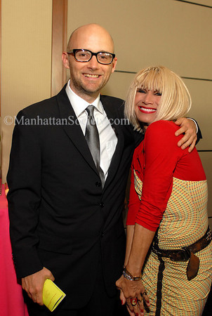 NEW YORK-JUNE 21: Moby & Betsey Johnson attend Sanctuary For Families 12th Annual ZERO TOLERANCE Benefit on Tuesday, June 5, 2007 at Pier Sixty, Chelsea Piers, New York City, NY. (Photo Credit: ManhattanSociety.com by Christopher London)