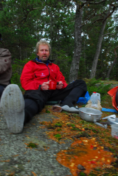 Ulf lyckades inte med lunchen...
