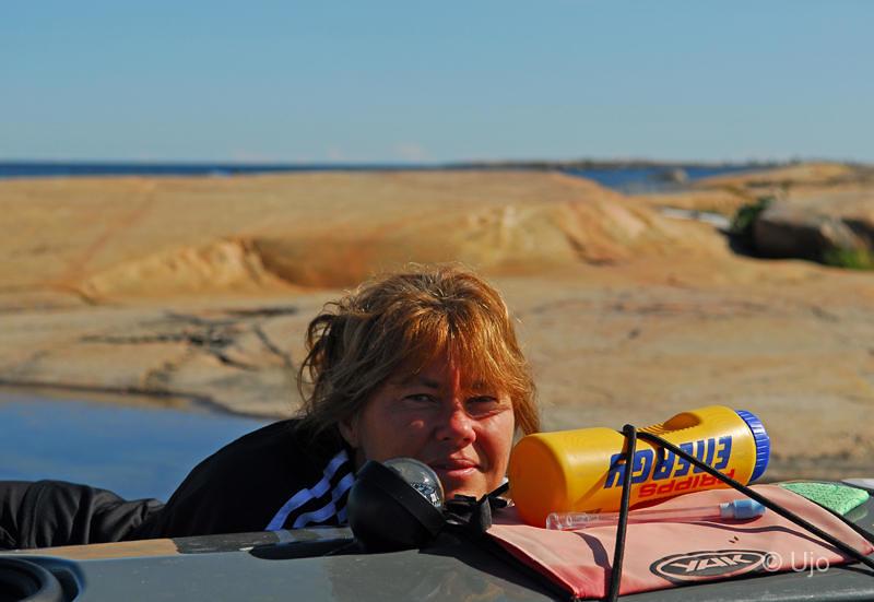 Rosel laddar för dagens paddling
