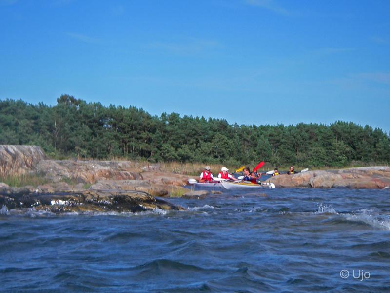 Trassel i hålet till Bryggebådans lagun
