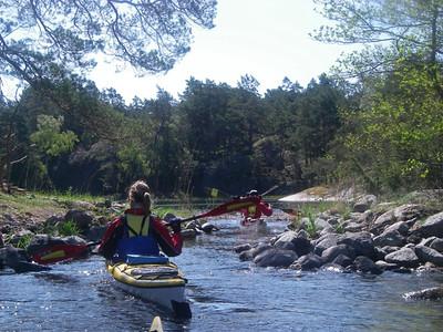 Dagens paddling blev blåsig, men vinden blåste vår väg