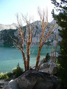 Lower Lamarck Lake, our first night camp.