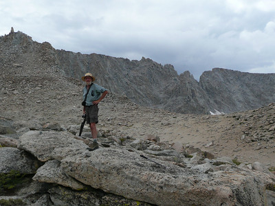 Finally out of the boulder field and with hope that we'd make the Col by dark, we took in the view.