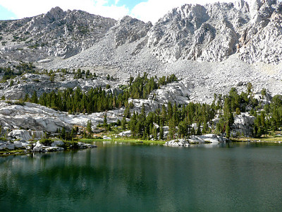 """After setting up camp at the best site on the lake, """"The Penthouse"""", we day-hiked up to the Wonder Lakes."""