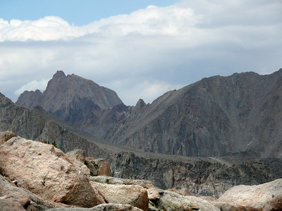 Mt. Humphreys. Notice the Piute Pass Trail in the lower right.