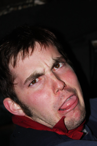 Richard makes an ugly face.