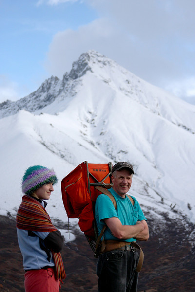Tracy and Dave with Matanuska Peak looming in the background.