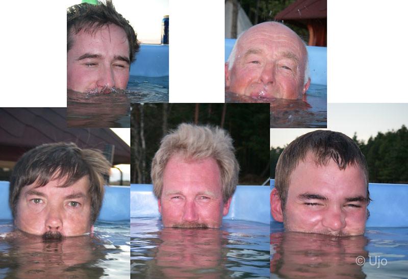 En kollektion badkillar...