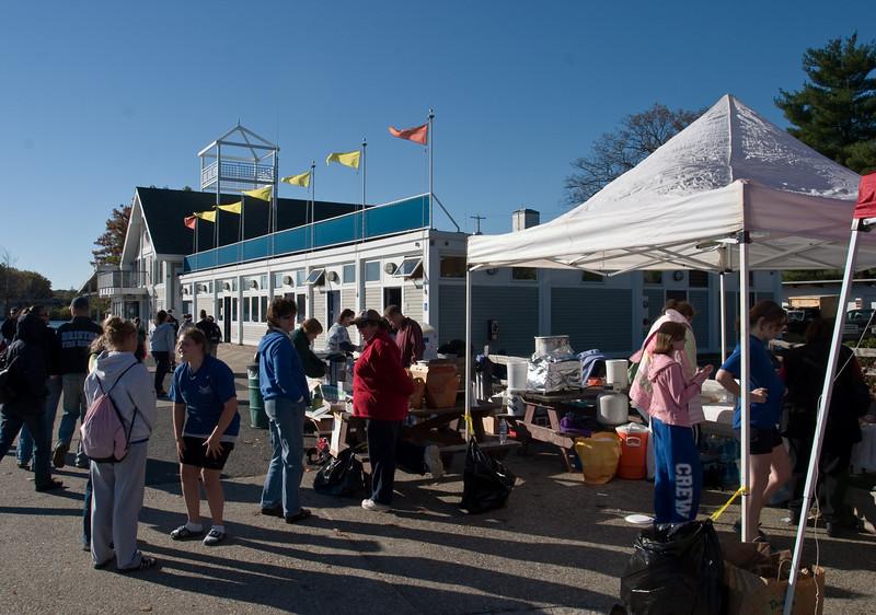 Regatta center and food tent.