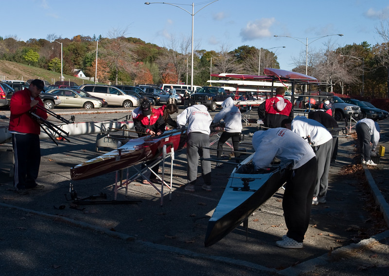 Preparing boats.