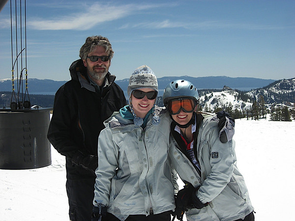 The Harrison family enjoying their day of May Skiing!