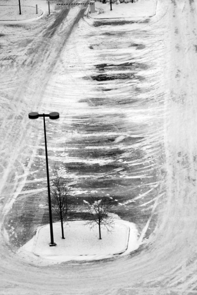 Nature and man work together to paint the winter landscape.