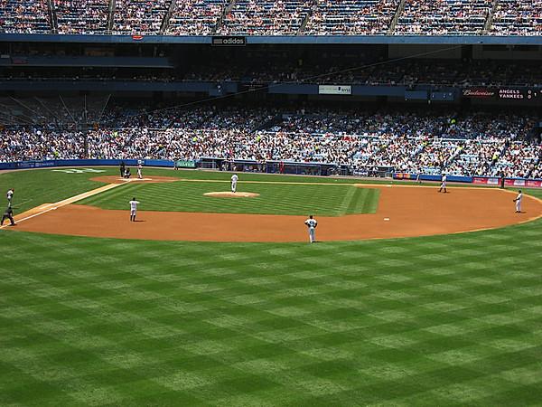 The Yankee infield