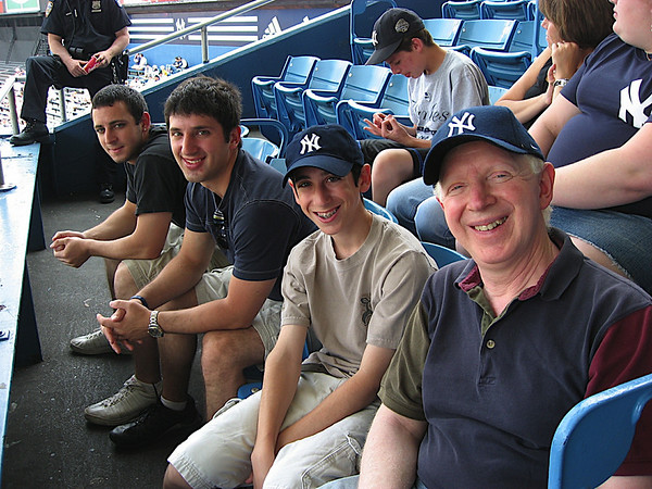 Meyers family at the Yankees game