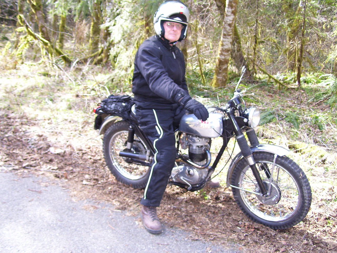 Norman is 75 years old and rides a 1964 BSA 350.