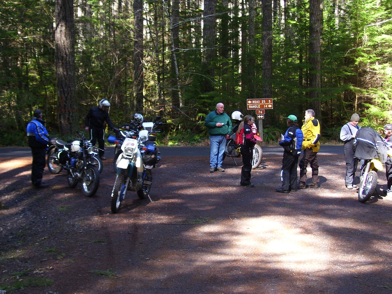 At the start of the 7605 road.