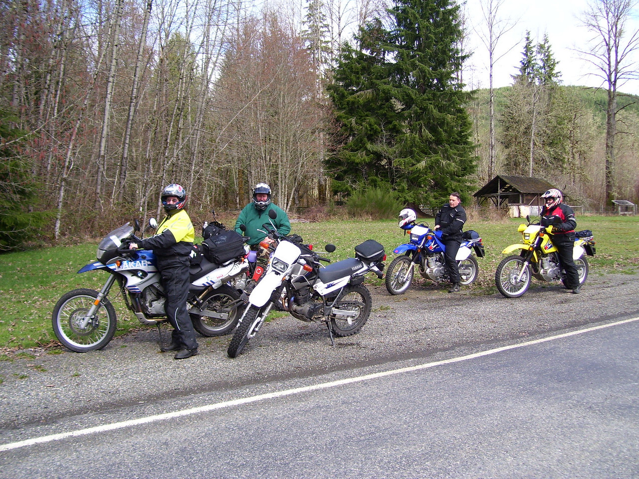 Sunday's ride had just five of us: Sylvia, Paul, Marty, Cheryl and Lan.