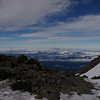Mt. St. Helens from the false summit, 11,500'.