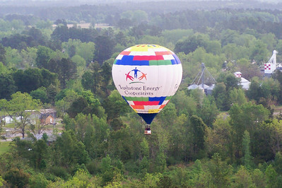 Taken by Stan Bush, passenger in the BB&T balloon at the NC Strawberry Festival, Chadbourn, NC Balloon appearing for Brunswick EMC - May 2007
