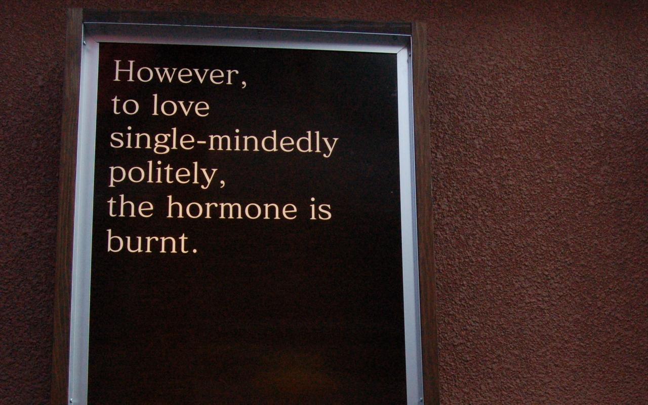 The hormone is burnt