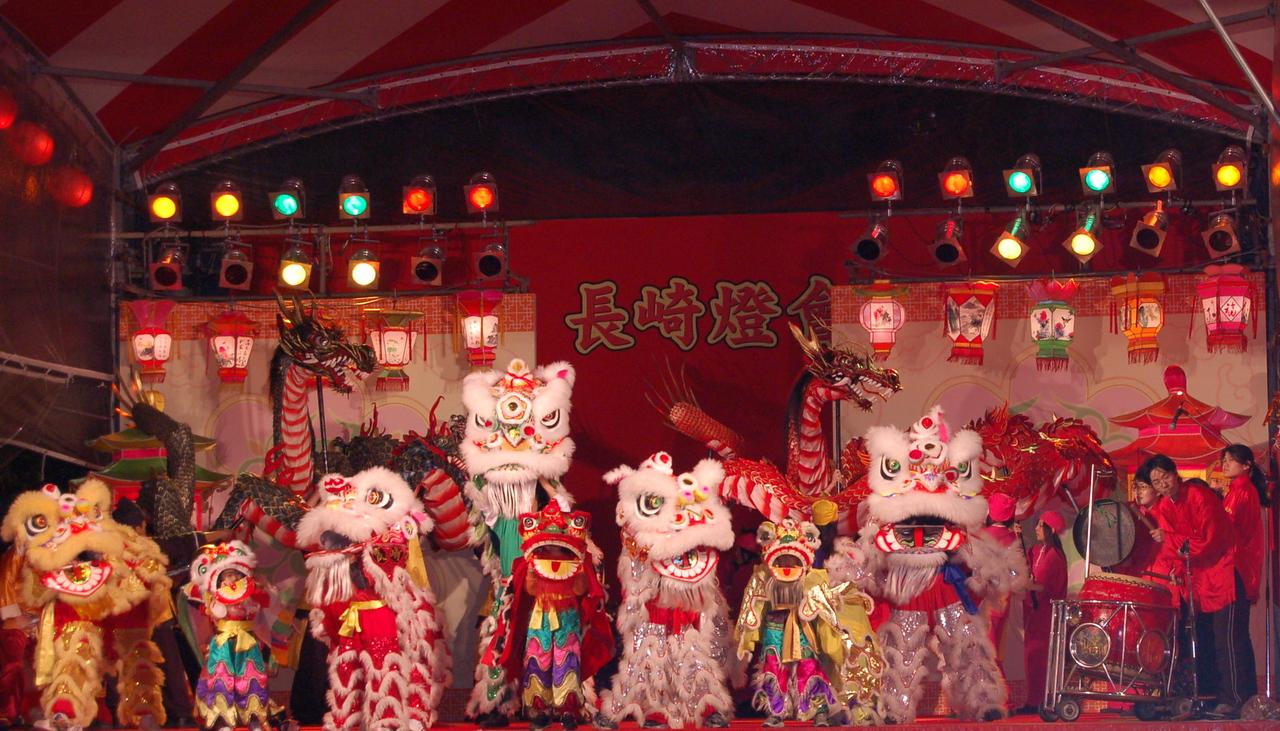 Lion line dancing