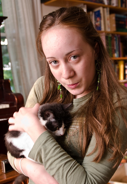 Isabel holding Ivy.