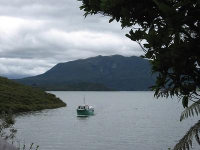 Lake Rotomahana and Patiti Island - Leslie Rowley