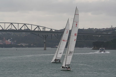 New Zealand,North&South Islands, Auckland Harbour Americas Cup Yachts - Marian MacFarlane (84)