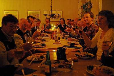 Efter ett kort planeringsmöte var vi förtjänta av middagen