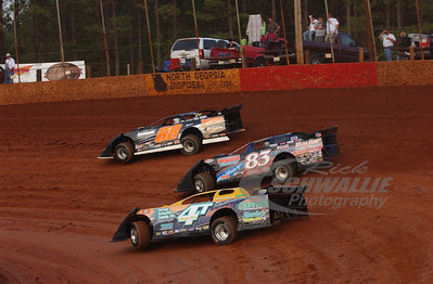 4T Tommy Kerr, 83 Scott James and 88 Wendell Wallace