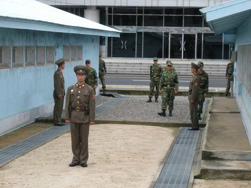 Soldiers at the DMZ