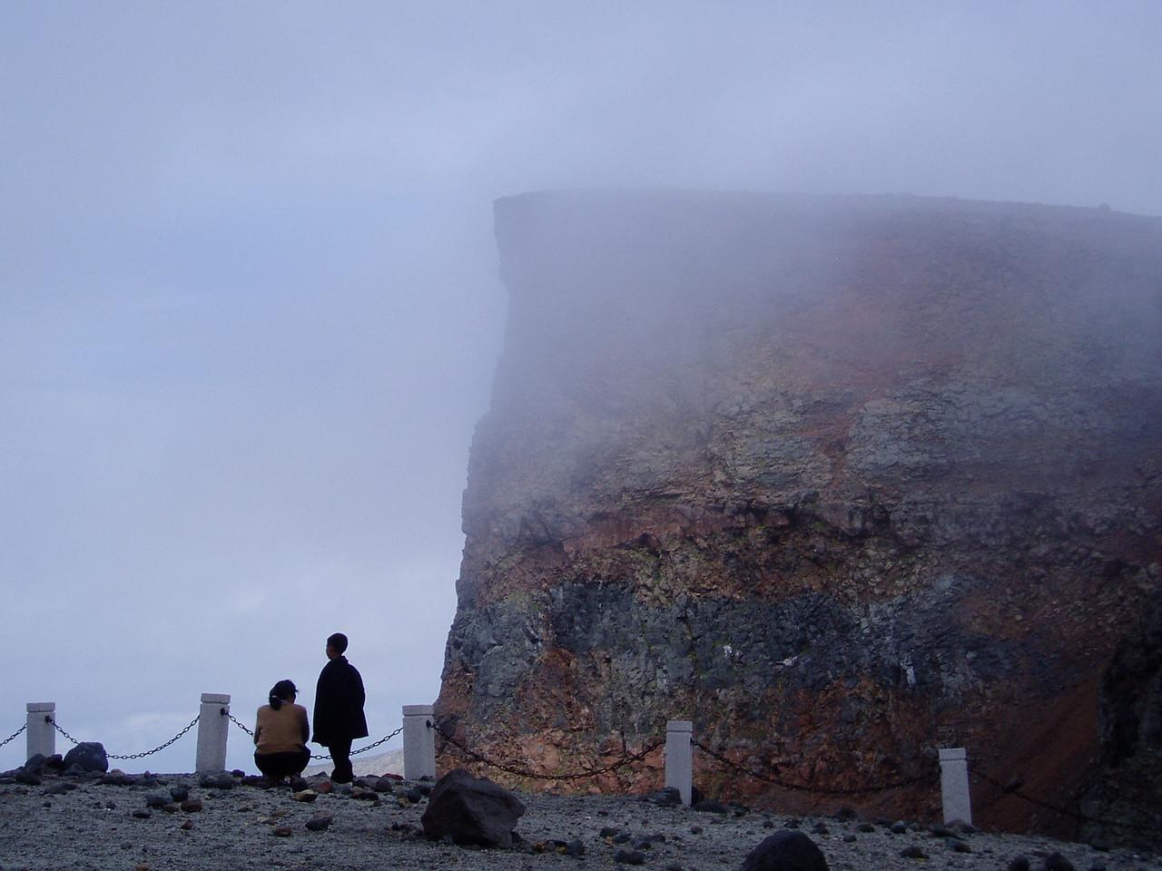 Paekdu in the mist
