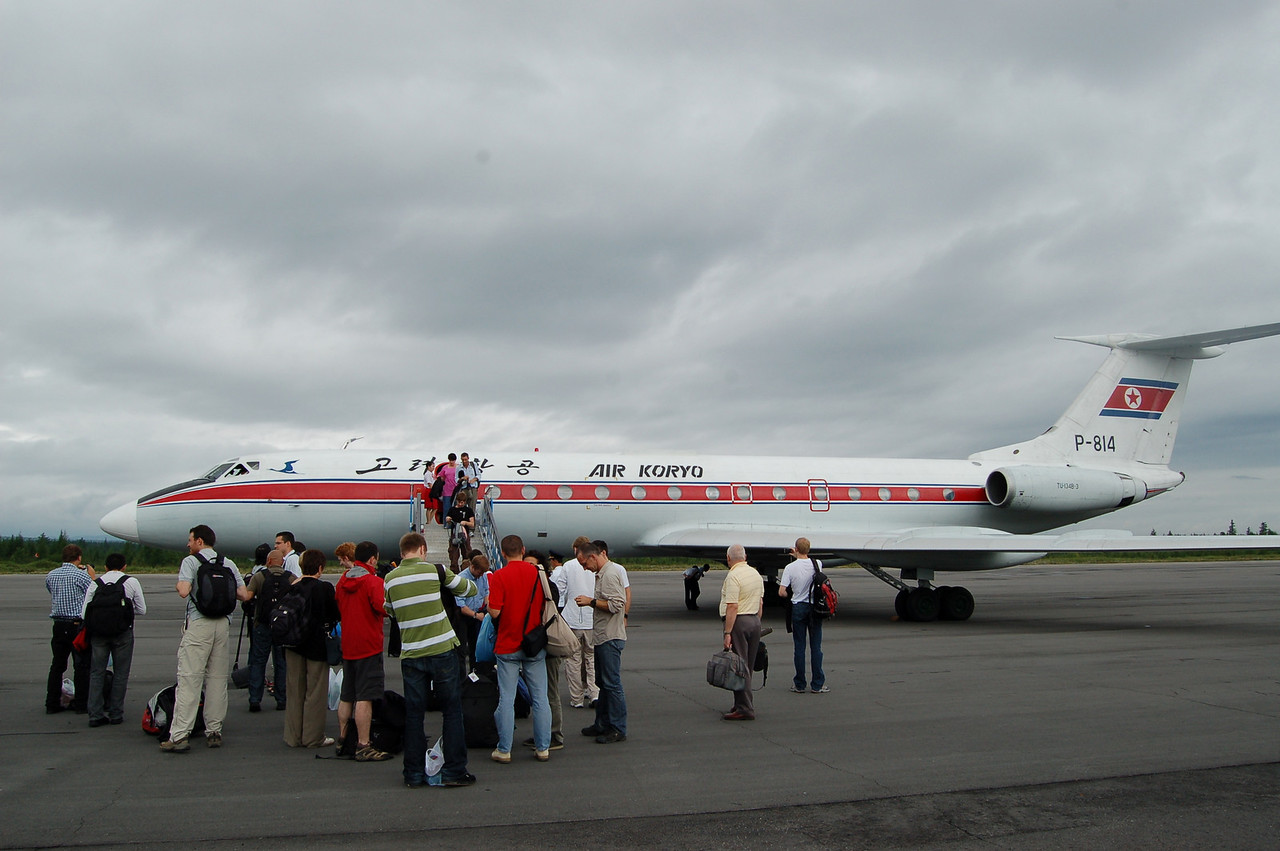 Charter flight to Paekdu