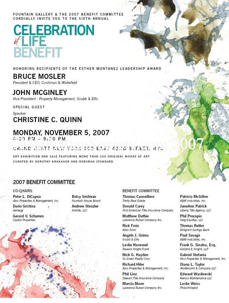 Fountain Gallery's Sixth Annual Celebration of Life Benefit