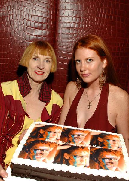 Artist Linda Mason (designed cake) & Caroline Alexa McBride