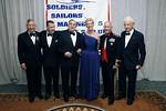 General George Barker, Ivan Obolensky, Bill Gallo, Jacqueline Astor Drexel, General Robert Magnus, Robert Morgenthau