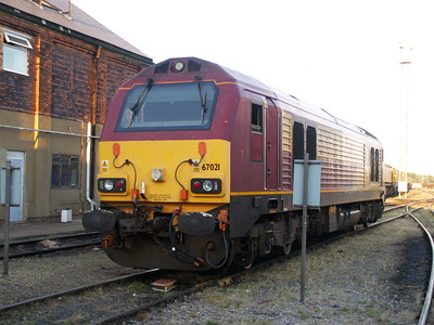 67021 sits outside the fuelling point.