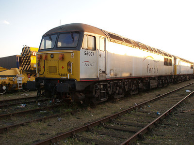 Stored 56007 in the carriage sidings.