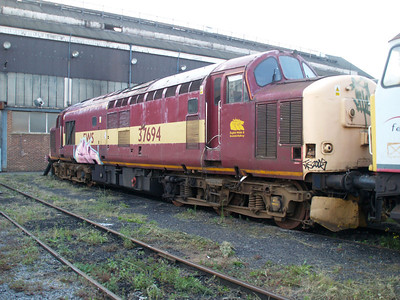 Stored 37694 out the front of the Factory.